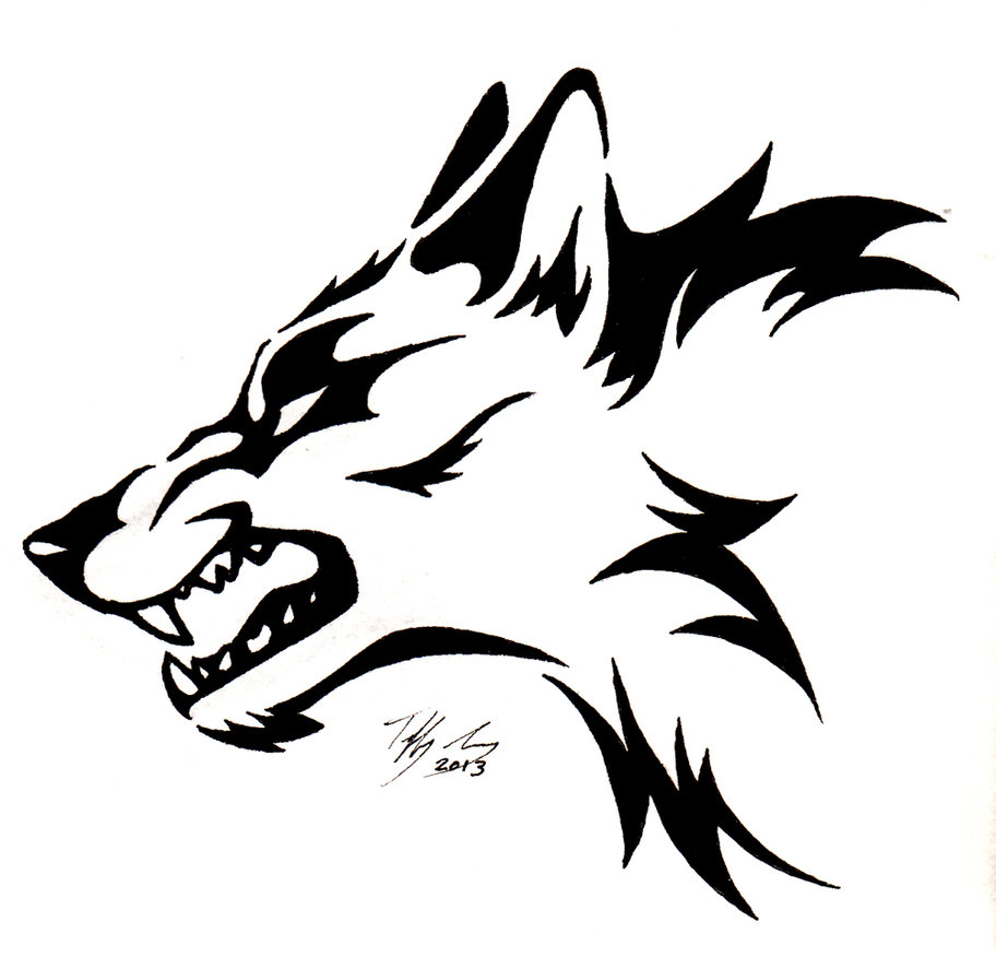 Wolf clipart growl.  head clipartlook