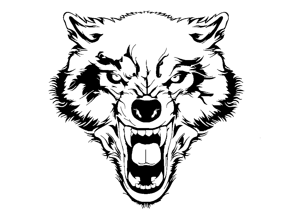 Pin by steve flatbush. Wolf clipart growl
