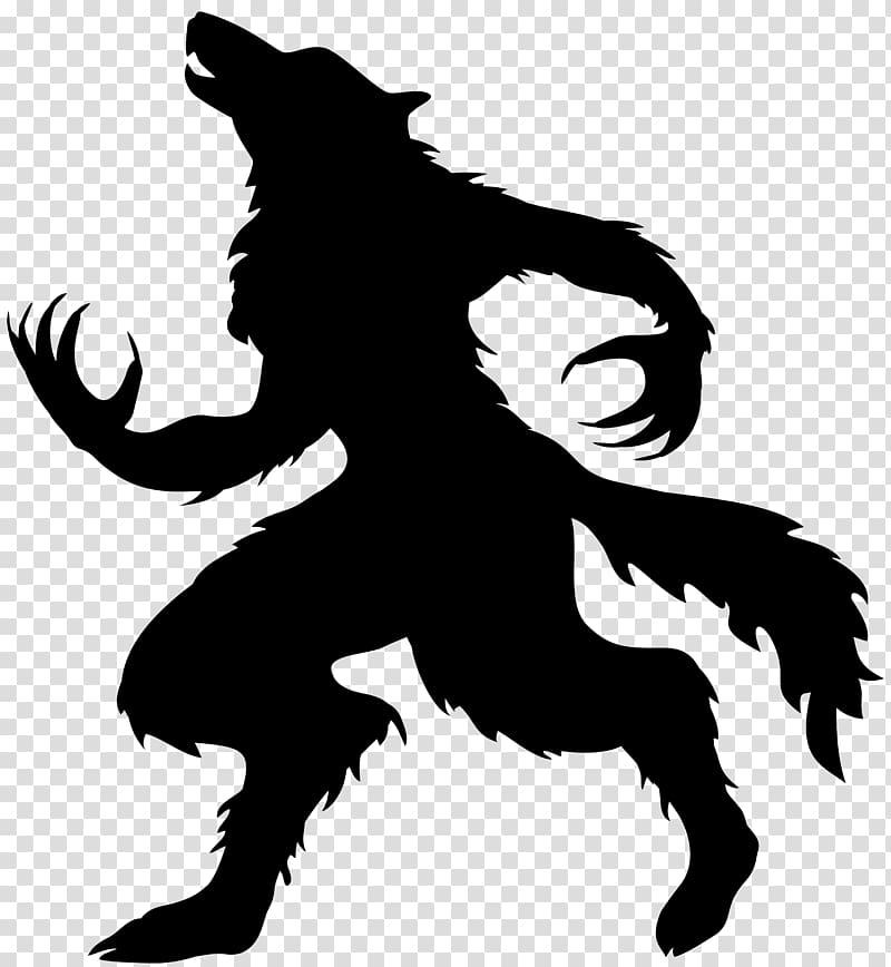 Werewolf full moon gray. Wolf clipart halloween