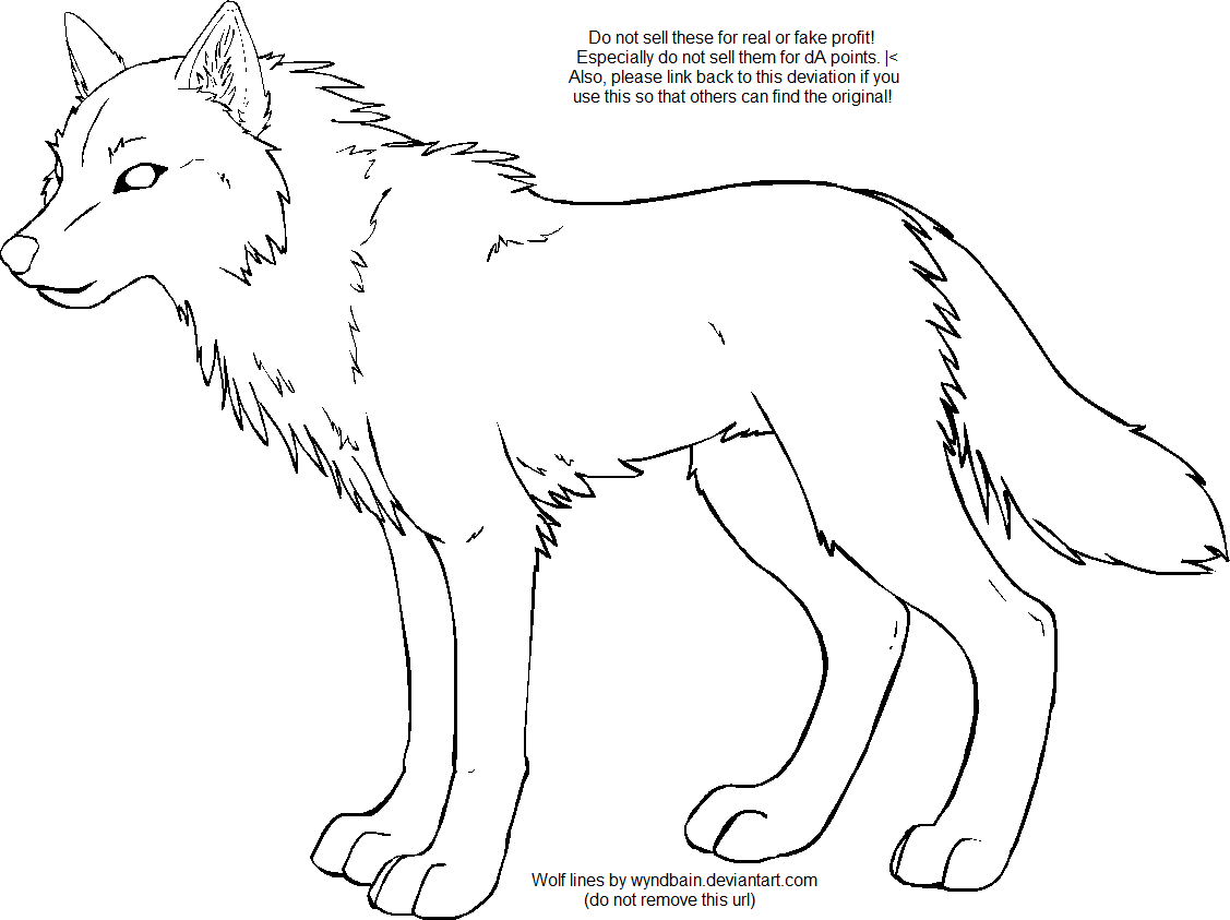 Wolf clipart line. Free outline download clip
