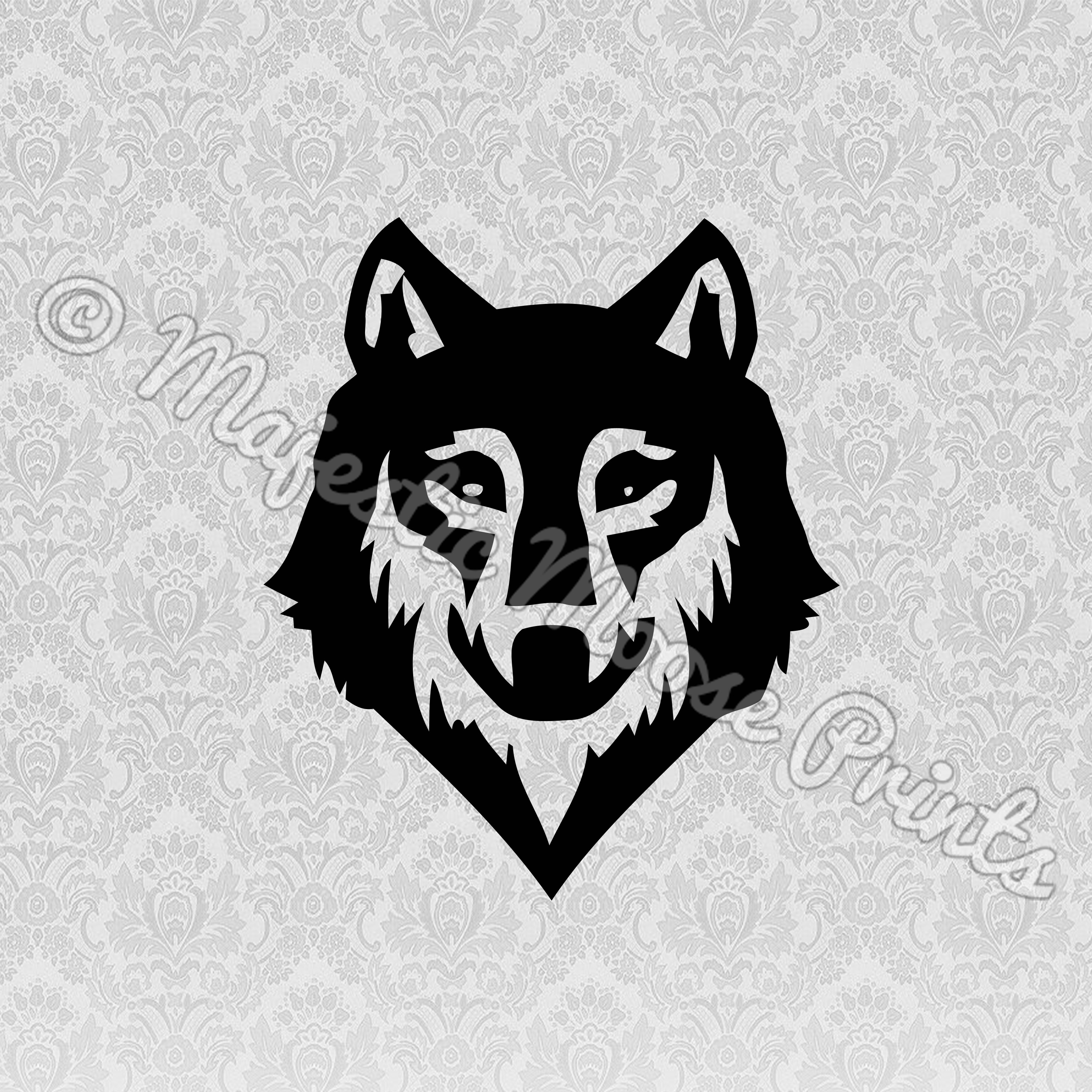 Wolf clipart majestic. Face svg moose prints