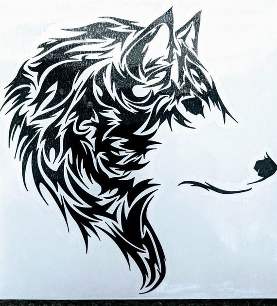Halloween sale tribal wolf. Wolves clipart majestic