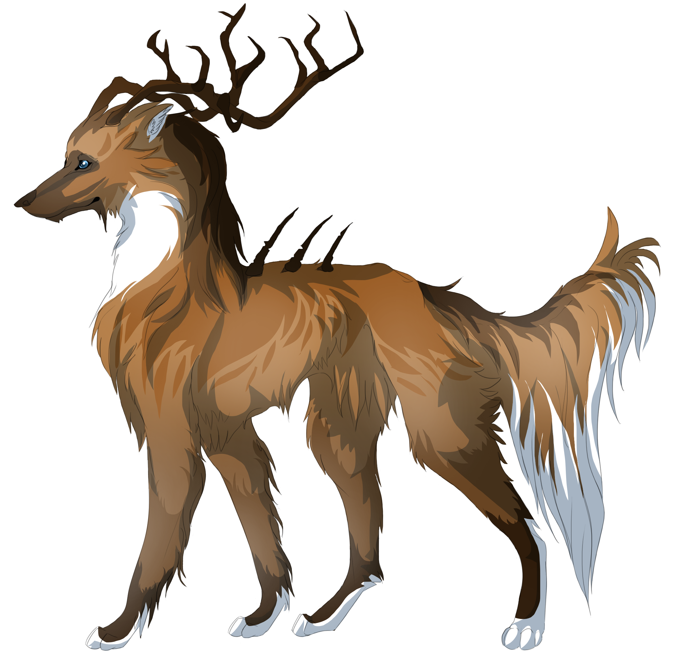 Wolf clipart majestic.  collection of deer