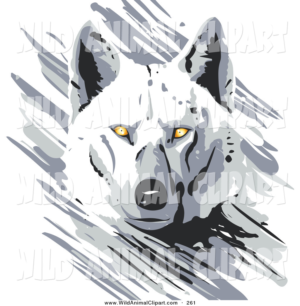 Clip art of a. Wolf clipart majestic