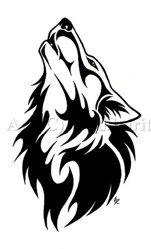 Black and white google. Wolves clipart native american wolf