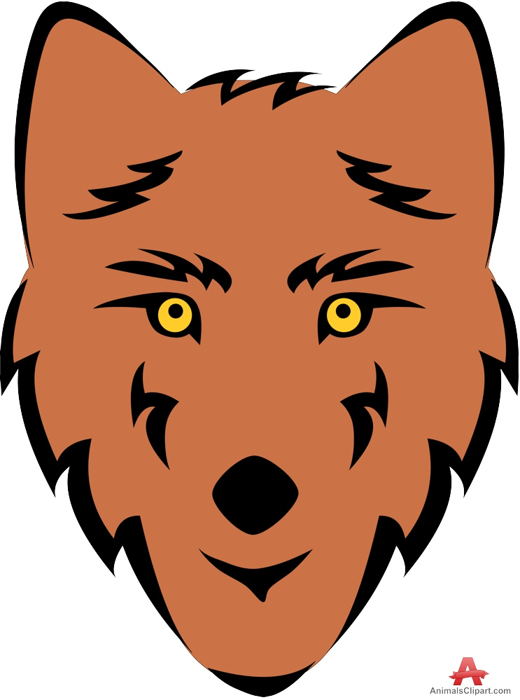 Wolf clipart orange. Free cliparts download clip
