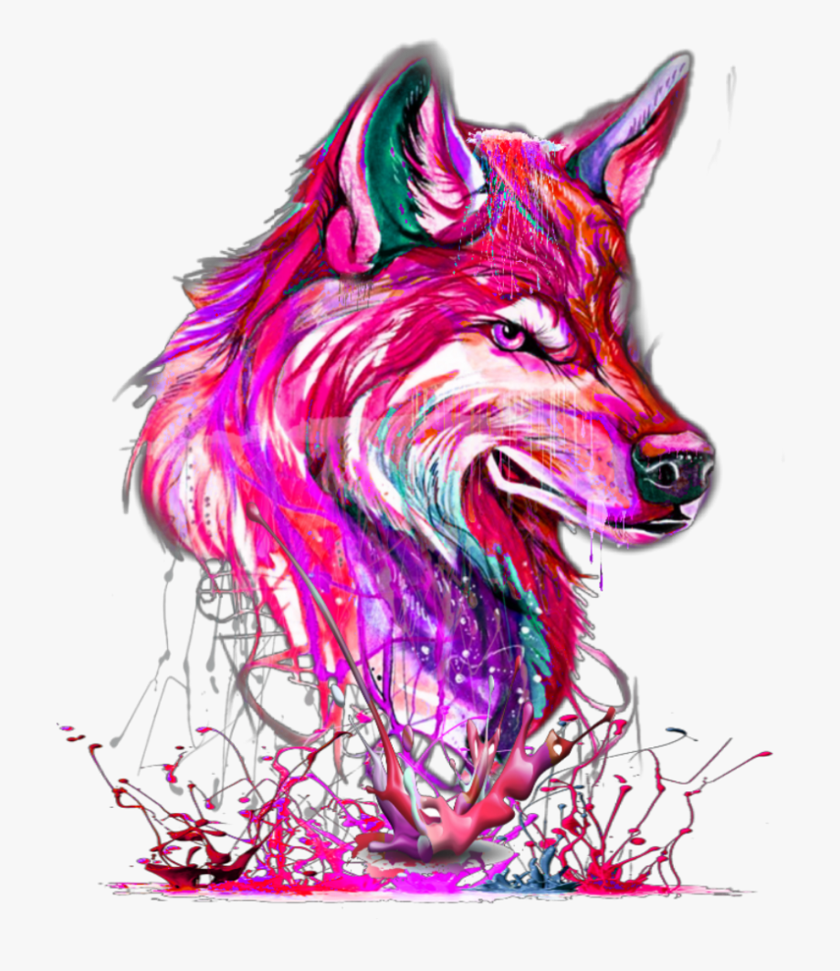 Cliparts cartoons jing fm. Wolf clipart pink