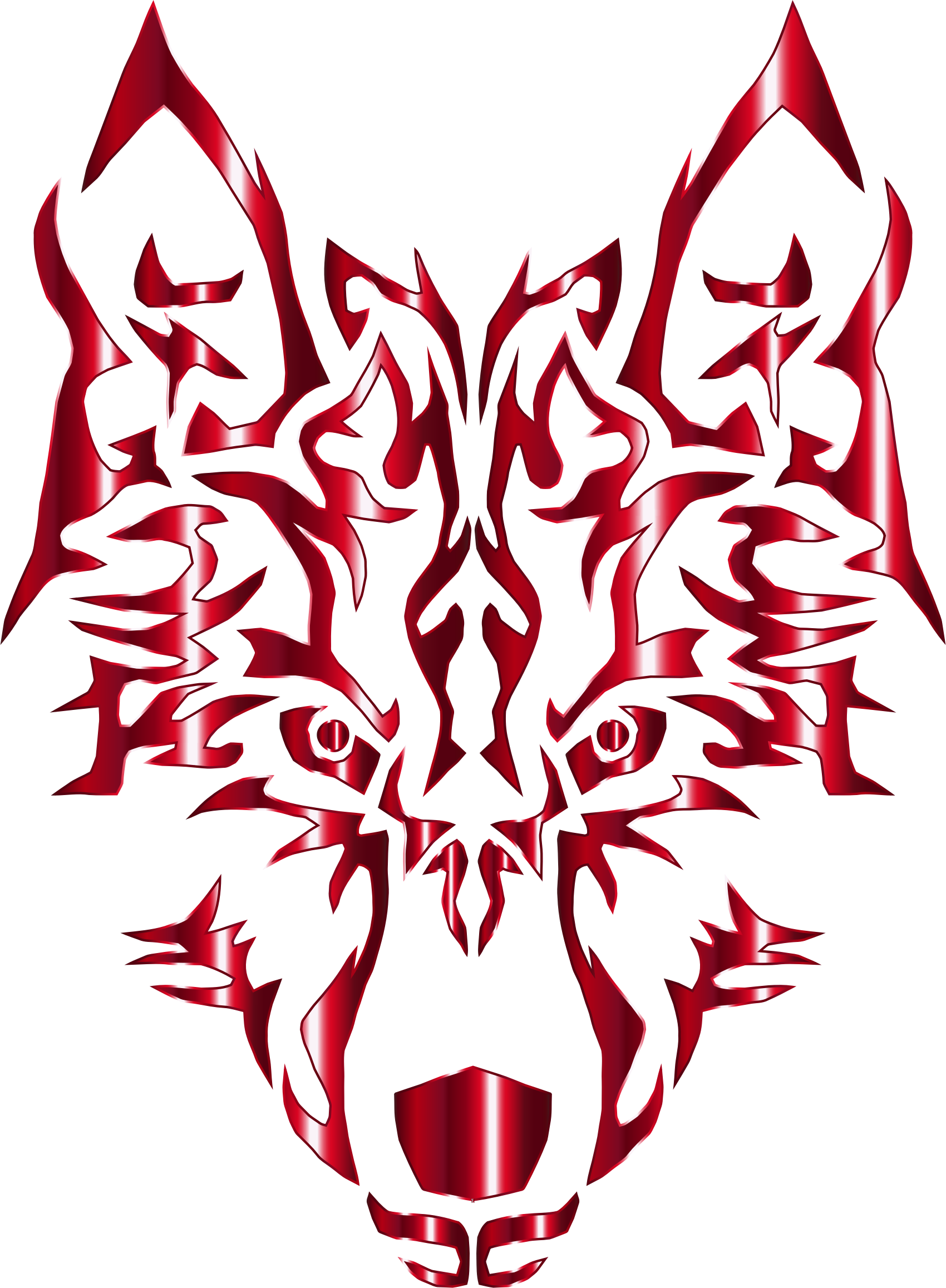 Crimson symmetric tribal no. Wolf clipart pink