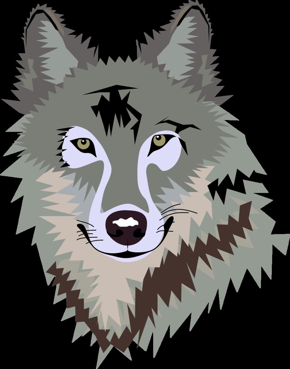 Clip art image id. Wolf clipart public domain