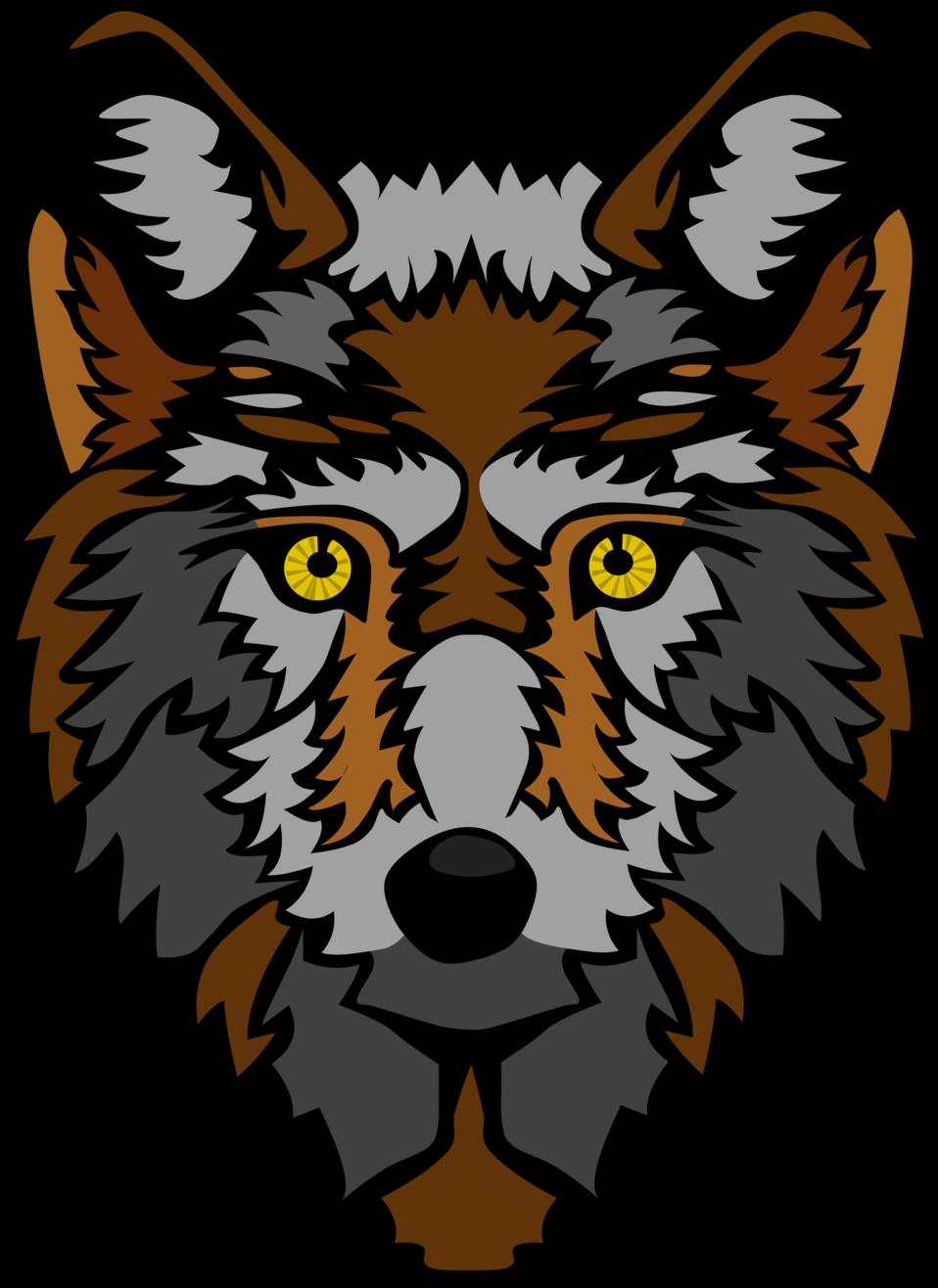 Wolf clipart public domain. Clip art image head