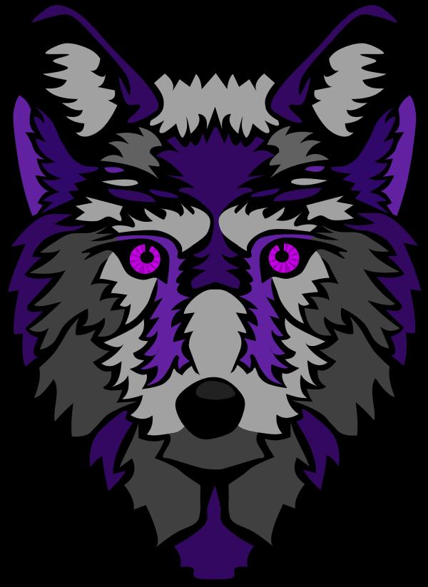Wolves clipart purple. Wolf
