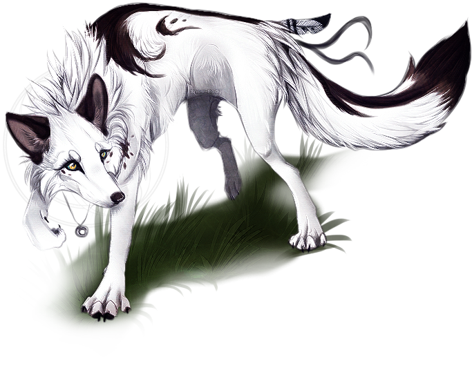 Wolves clipart female wolf. Gene white and black