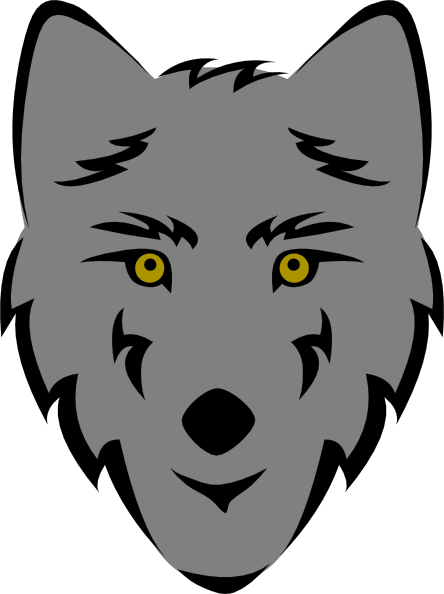 Wolf clipart simple. Easy drawings best clip