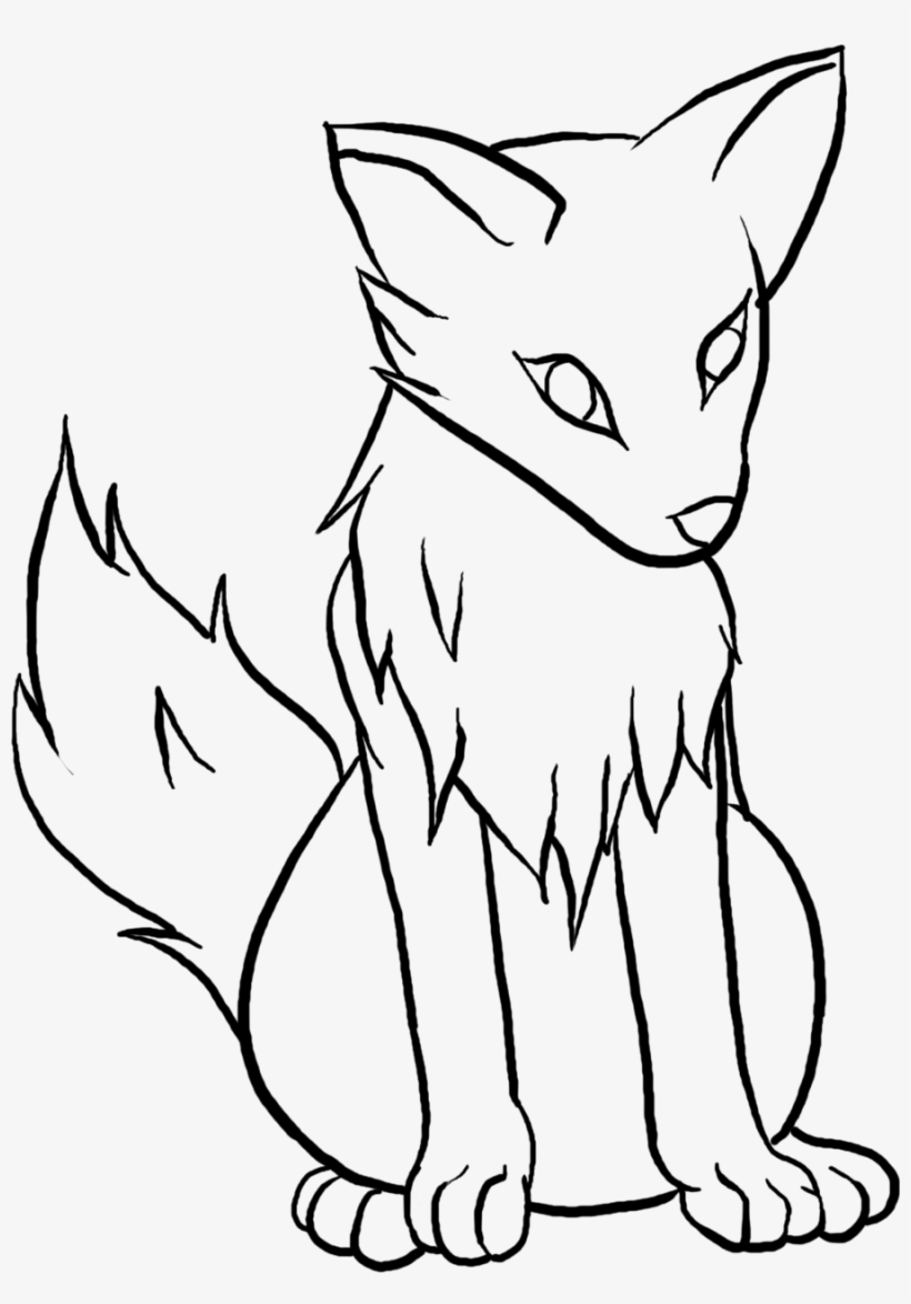Wolf clipart simple. Drawing pics free download
