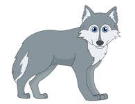 Wolves clipart gray wolf. Standing panda free images