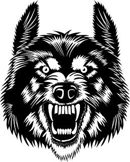Free vector cricut angry. Wolf clipart svg