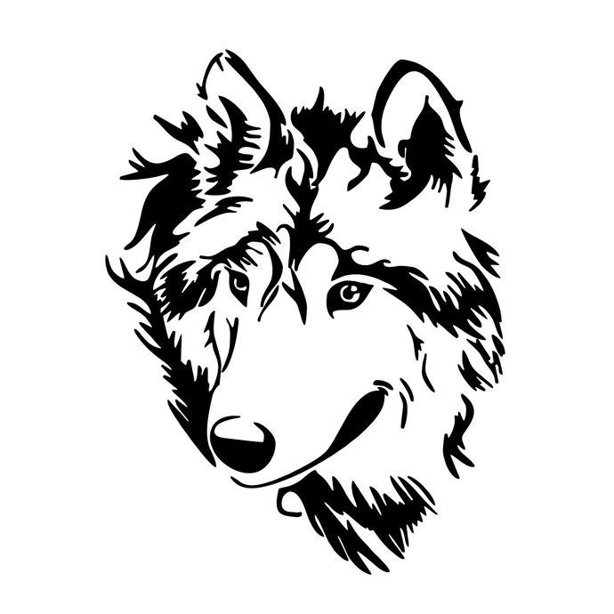 Wolf clipart svg. Head wild graphics design