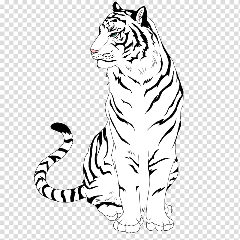 Line art drawing angry. Wolf clipart tiger