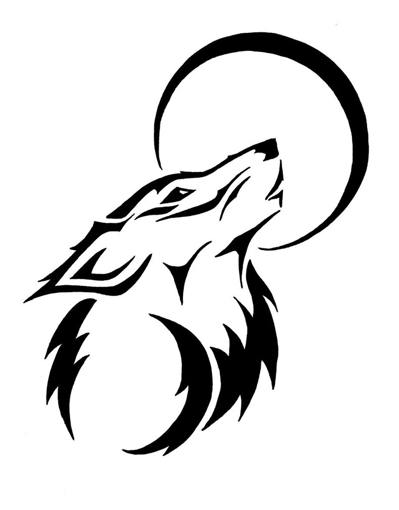 Wolf clipart tribal. How to draw wolves