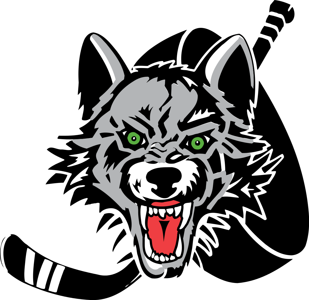 Wolf clipart vector. Young american clipground chicago