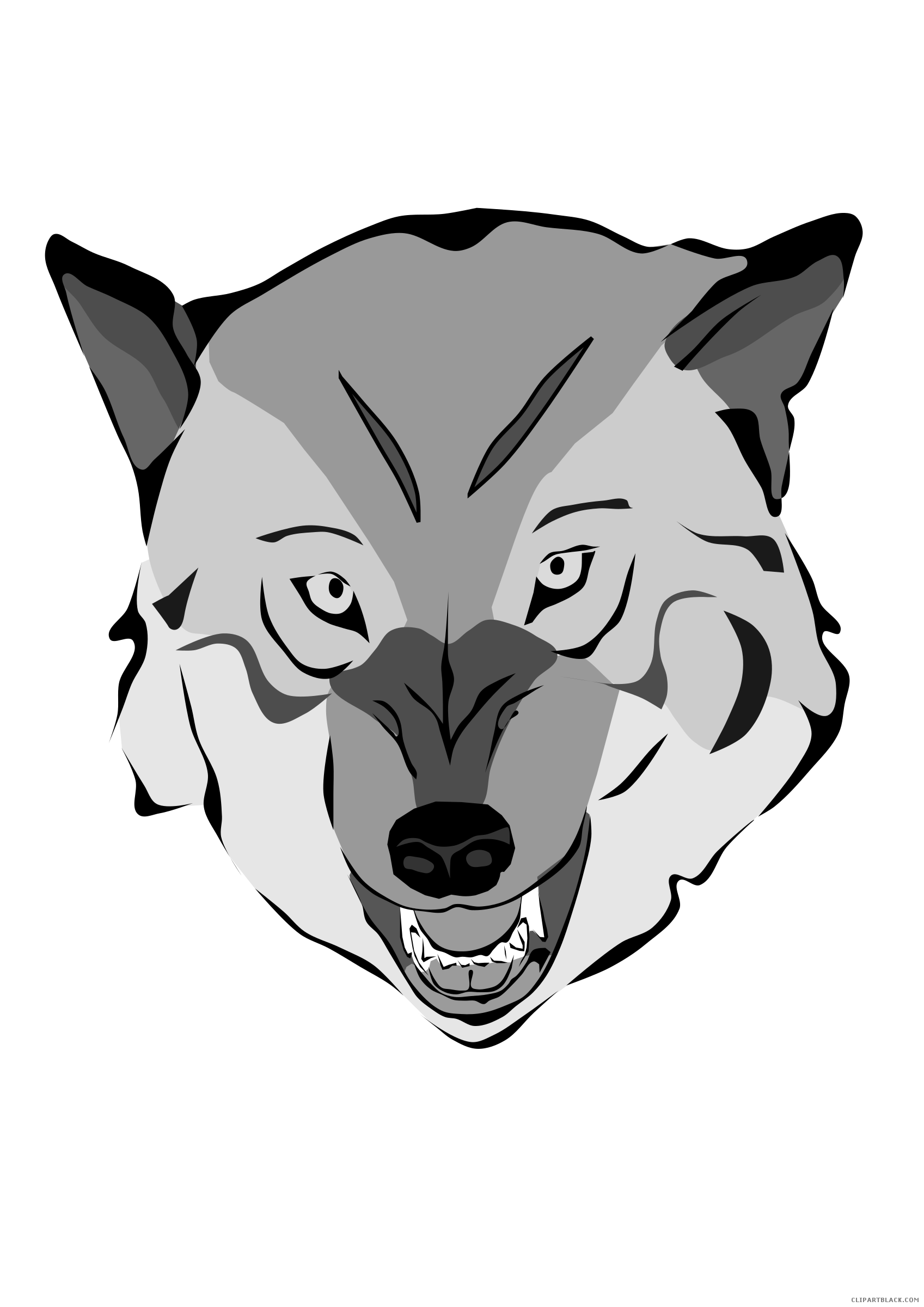 Face illustration of vectors. Wolf clipart vector