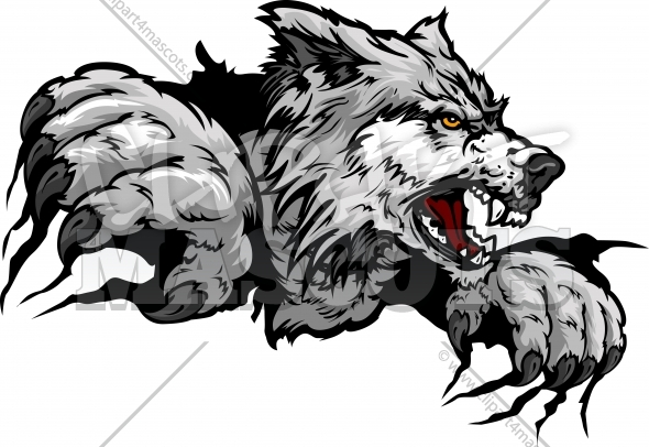 Wolf clipart vector. Free download clip art