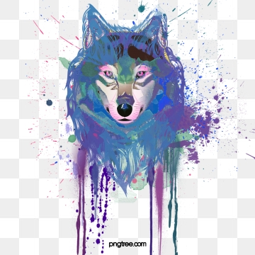 Png psd and with. Wolf clipart vector