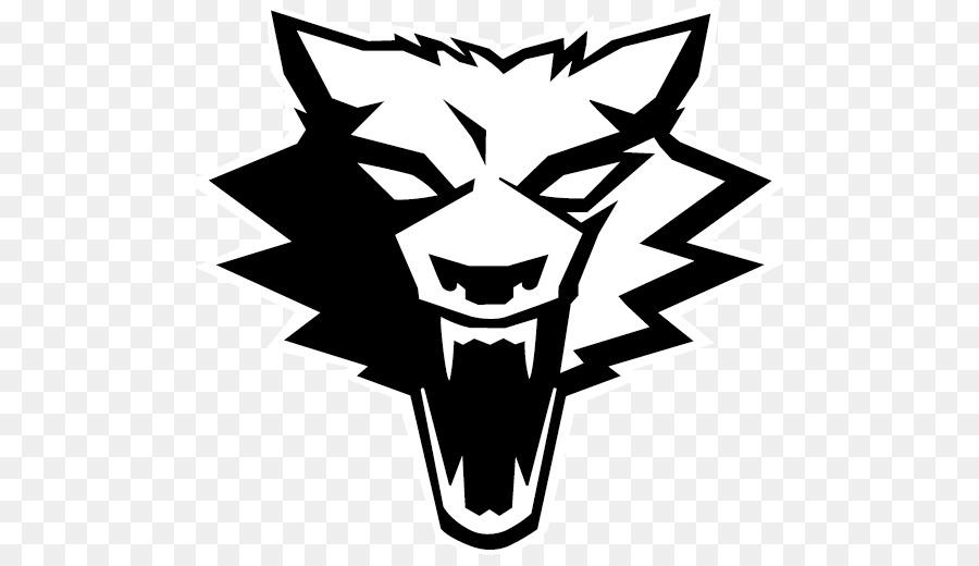 Wolf clipart werewolf. Logo face black transparent