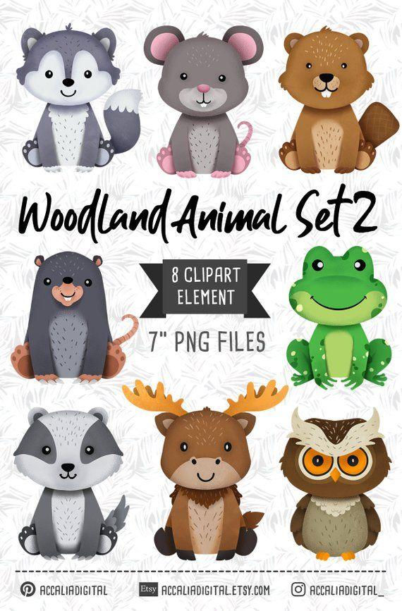 Animals owl forest friends. Wolf clipart woodland