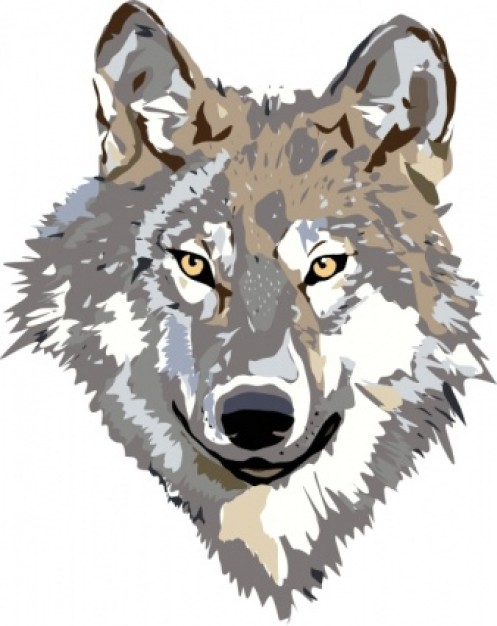 Wolf clipart front. Clip art black and