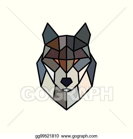 Wolves clipart abstract. Vector art head of