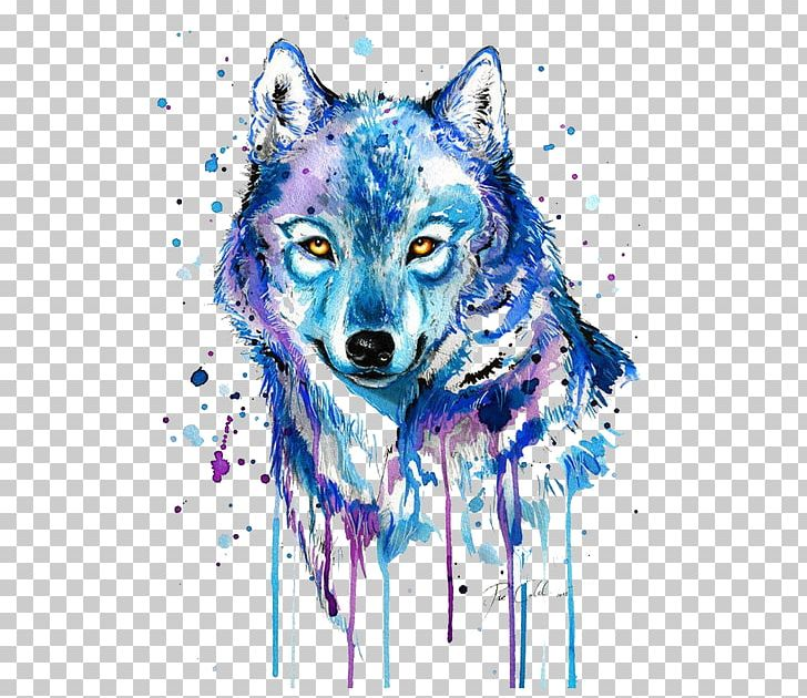 Wolves clipart abstract. Gray wolf tattoo watercolor