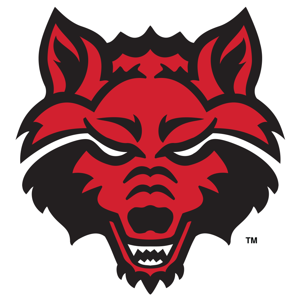 Wolves clipart basketball. Arkansas state red t