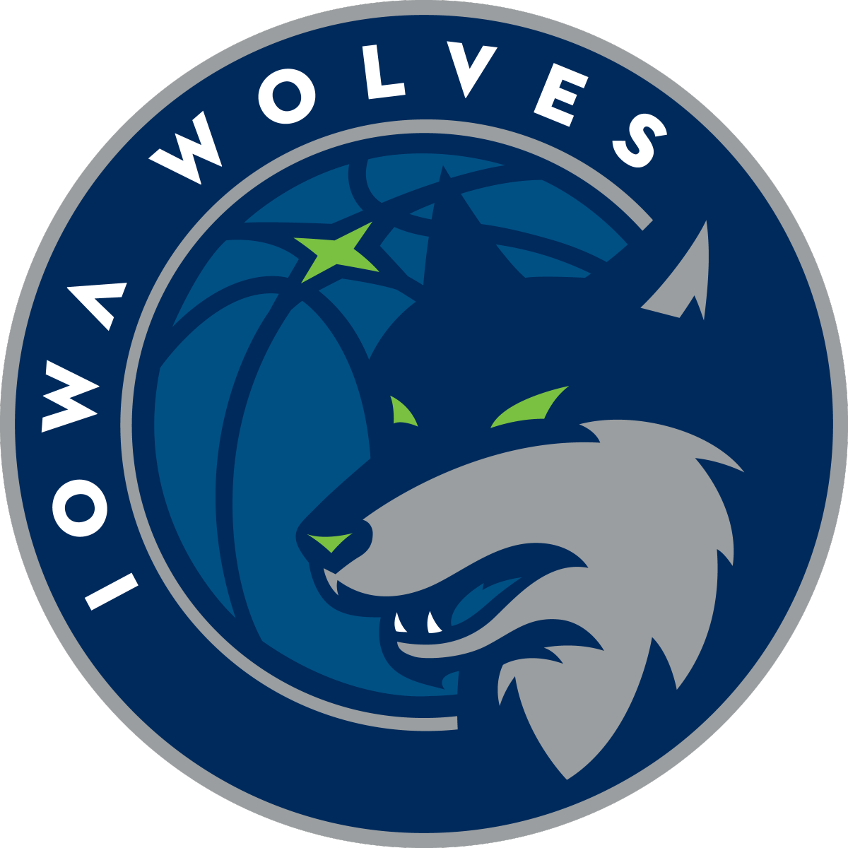Wolves clipart basketball. Iowa primary logo illustration