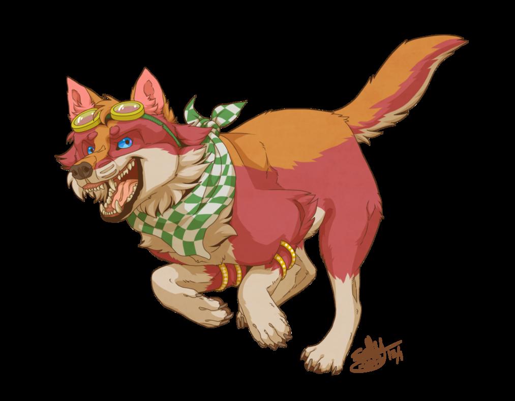 Firewolf by sally ce. Wolves clipart boho
