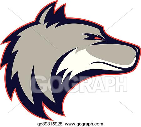 Vector art wolf head. Wolves clipart carnivore