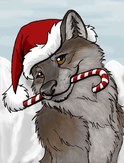 Pin on books . Wolves clipart christmas