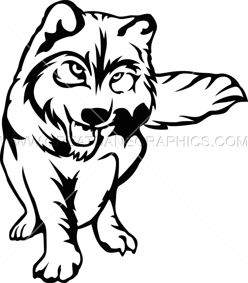 Wolf full body production. Wolves clipart color