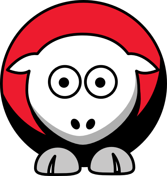 Wolves clipart color. Sheep arkansas state red