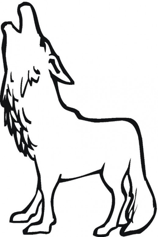 Free cartoon howling download. Wolves clipart color