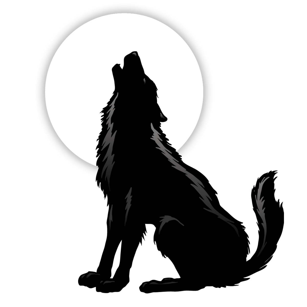 Gray wolf silhouette clip. Wolves clipart coyote