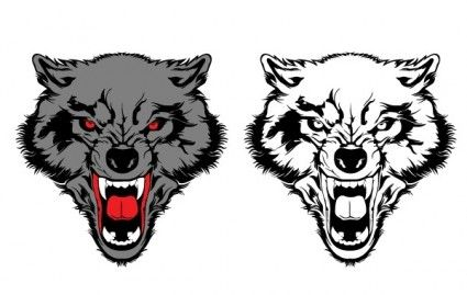 Wolves clipart eps. Wolf vector free graphics