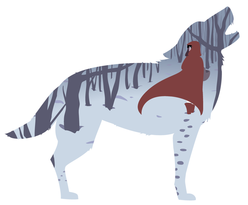 Red riding hood no. Wolves clipart fairytale