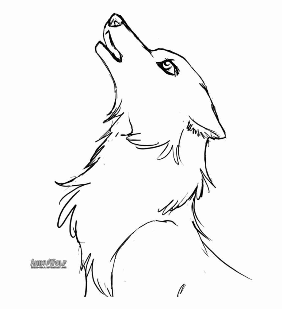 Baby drawing easy clip. Wolves clipart female wolf