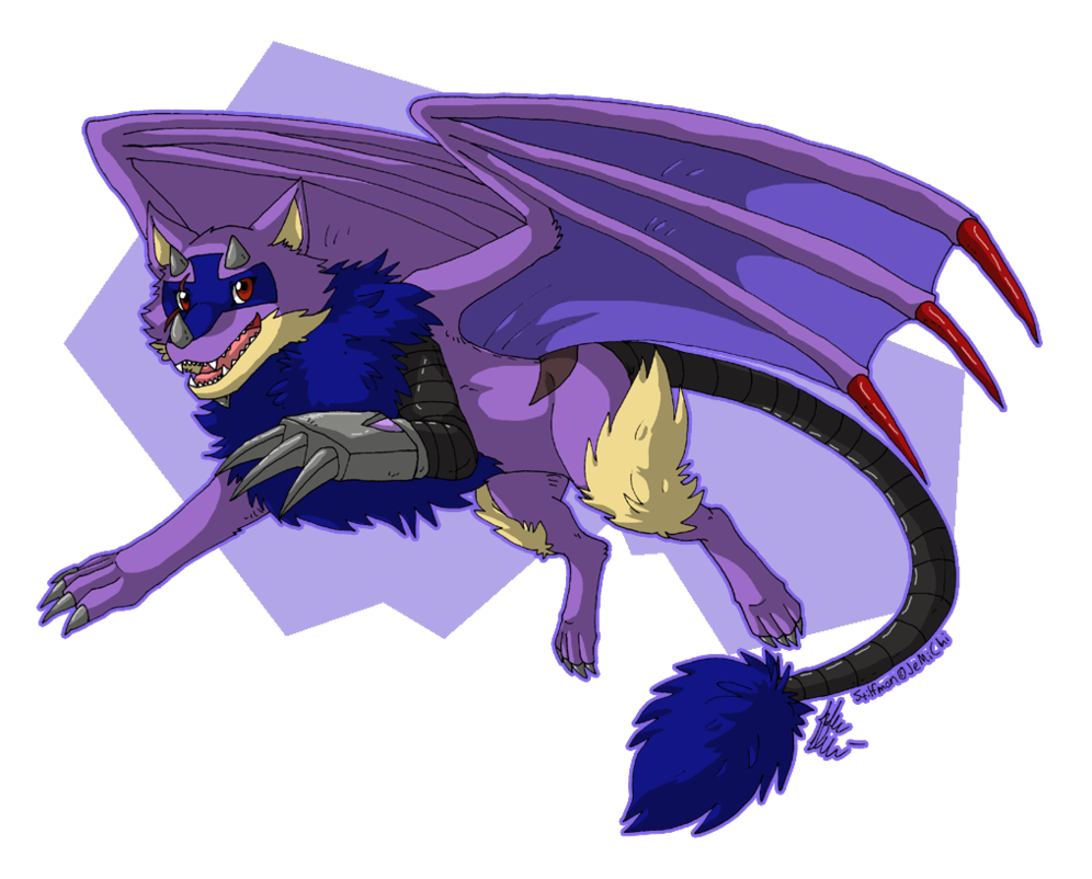 Wolves clipart flying. Commission cyborg wolf by