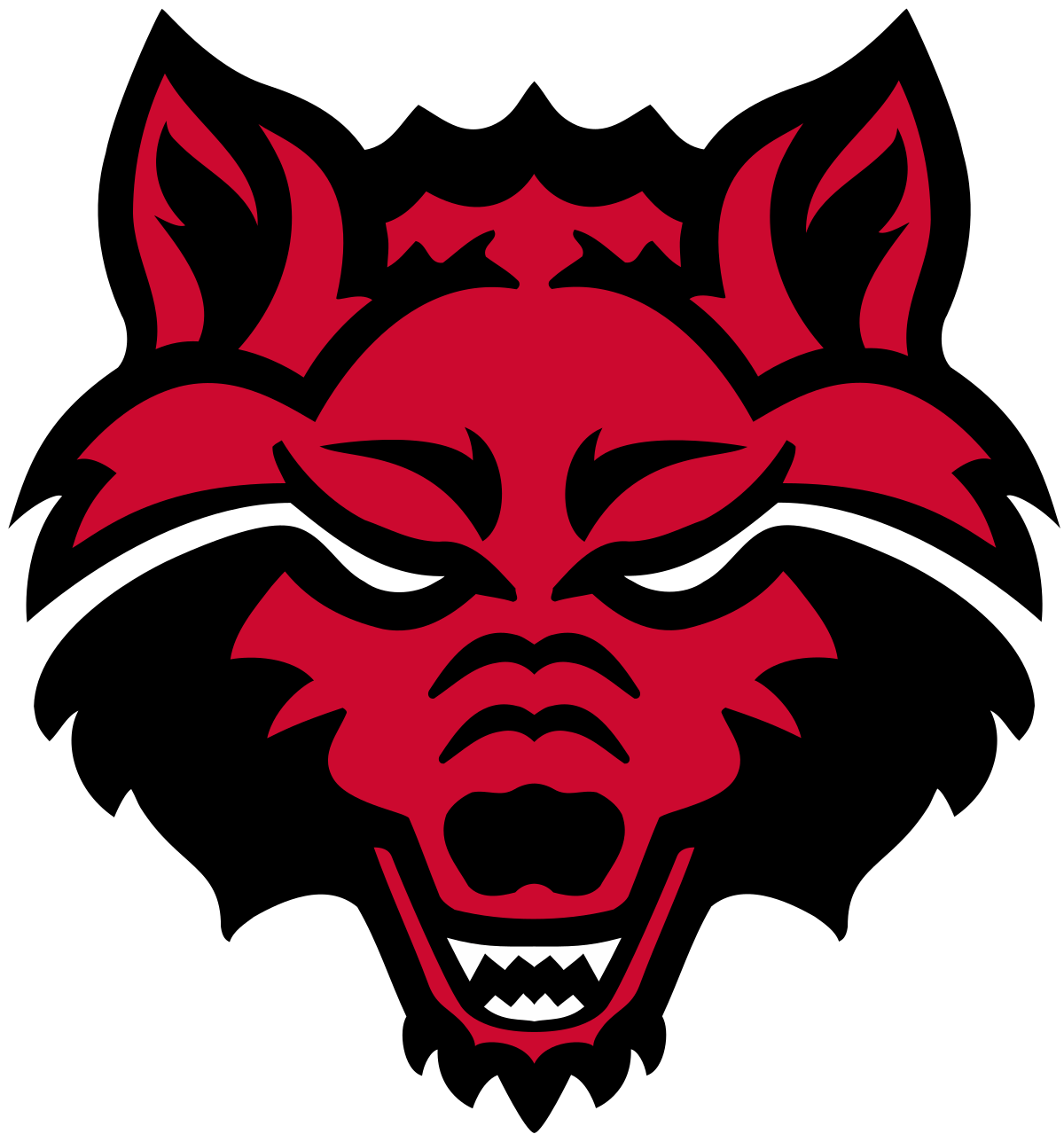 Wolves clipart football. The arkansas state red