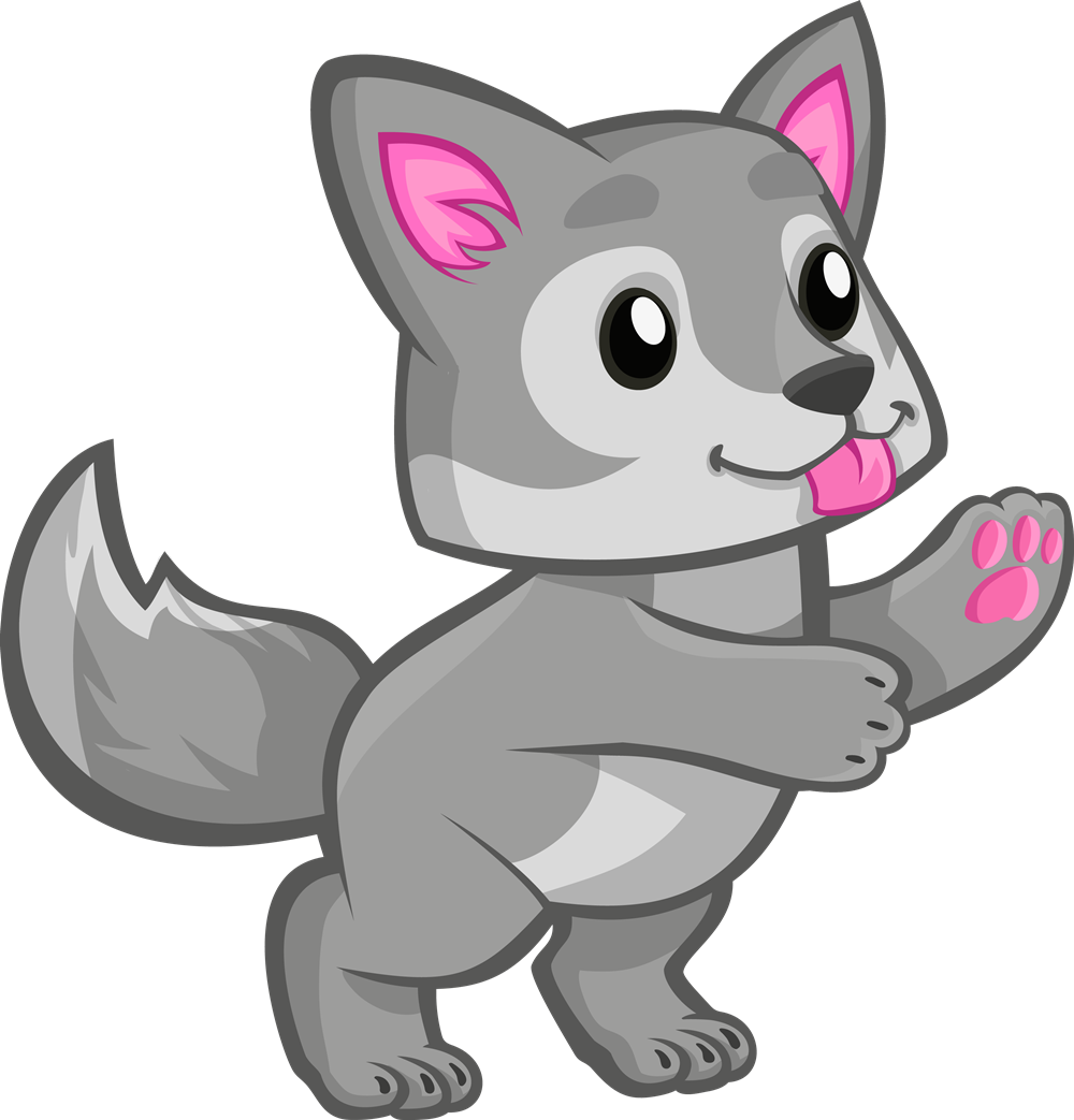 Cute baby freetoedit. Wolves clipart gray wolf