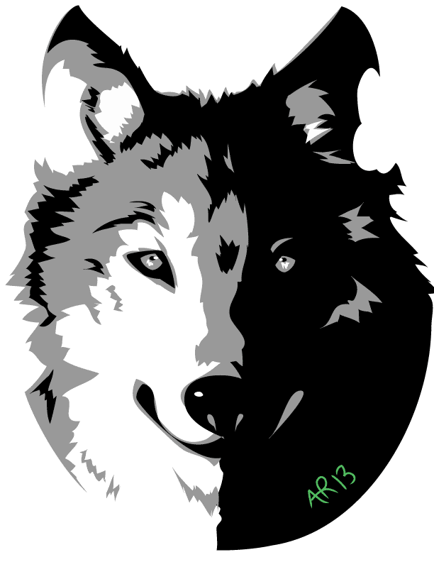Wolves clipart gray wolf. By blackxcanary on deviantart