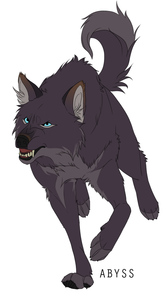 Wolves clipart gray wolf. Dark blue eyed abyss