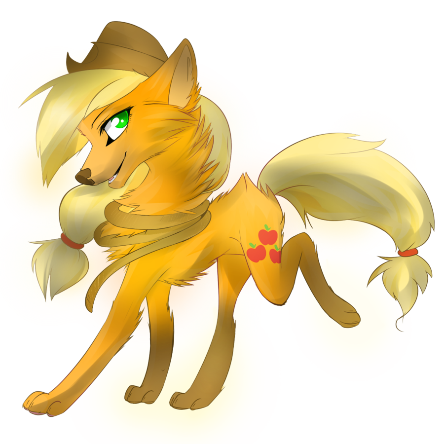 Image fanmade applejack wolf. Wolves clipart magic